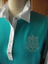 NEU EMILIA LAY Polo-Pullover Gr.42 UVP.80.- türkis Feinstrick Pullover Shirt