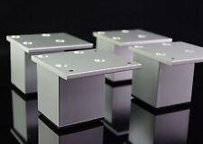 4pcs Set Height 60mm Metal Furniture Cabinet Bed Sofa Leg Feet