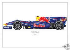 2010 Red Bull RB6 Mark Webber ltd ed/250 art print