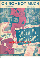 """QUEEN OF BURLESQUE Sheet Music """"Oh No - Not Much"""" Evelyn Ankers Marion Martin"""