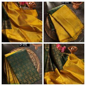 kanchipuram silk saree Indian ethnic wear formal wedding kanjivaram party Sari