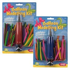 1x New Modelling Balloon Pump Kit Sets 31 Piece - For Party Wedding Crafts UK