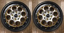 TWO 15X3.5 DRAG STRIP WHEELS SKINNIES 4X100 SKINNY TRACK RIMS ACURA INTEGRA