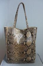 Damen Schultertasche Tasche Handtasche Shopper Python Schlange Echt Leder Italy