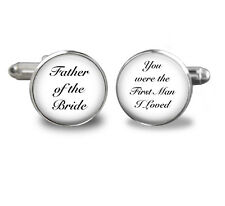 Father of the Bride Cufflinks-You were the first man i loved,jewelry,dad wedding