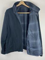 Faded Glory Reversible Men's 2XL Jacket Black Plaid Waterproof Windbreaker 50-52