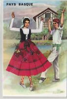 CP BRODEE EMBROIDERED BORDADA FOLKLORE Pays Basque n 804/3 n2