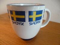 """Svensk Sweden Swedish Coffee Mug  Berquist Imports   Dala Horse     D  4"""""""
