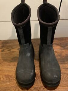 Kids Muck Boots Size 2 Black Grey The Original Water Light Durable Hunting Camp