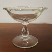 "Fostoria CENTURY Comport Square Bowl Nut Candy Crystal Clear Glass 4 3/8""tall"
