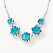 Touchstone Crystal by Swarovski Laguna Beach Necklace Turquoise Bnib