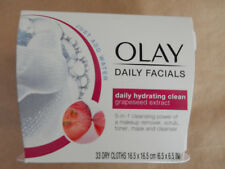 Olay/Daily Facials/Daily Hydrating Clean Grapeseed Extract/33 Dry Cloths/New