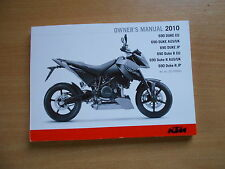 Fahrerhandbuch  owner´s manual KTM Duke 690 / 690 R EU/AUS/UK/JP/R