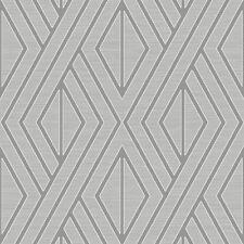 Papier Peint Géométrique Gris/Argent - Poire Arbre UK30507 Metalique