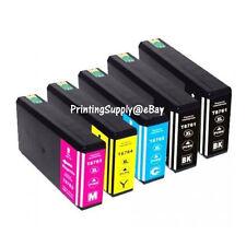 5PK Hi-Yield Ink For Epson 676XL WorkForce Pro WP4090 WP4520 WP4530 WP4533 4590