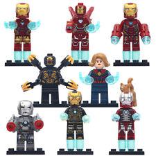 Lego Custom Captain Marvel MCU Avengers 4 Endgame Minifigure (8 characters)