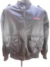 Vintage Size Large HondaLine Black Motorcycle Racing Cafe Bomber Jacket EUC!