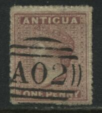 Antigua 1863 1d dull rose used