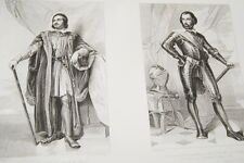 LAMARCK BOUILLON SEDAN  TRIVULU CAURIA MARECHAL FRANCE GRAVURE PRINT 1838 R1261
