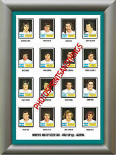 ARGENTINA - WORLD CUP 74 - REPRO STICKERS A3 POSTER PRINT