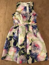 Warehouse Spotlight Floral Dress Uk Size 12 New RRP £80