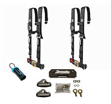 Pro Armor 4 Point 2 Padded Seat Harness Pair Mount Kit Bypass Black General