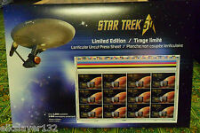Star Trek 50th Anniversary – Lenticular Uncut Press Sheet. Only 2,000 produced