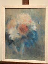 Jeanne Forain (1865-1954) - Pastel impressionniste - Composition Florale, 1947