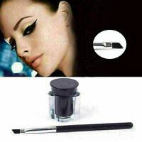 Schwarz Waterproof Eyeliner Frau Eye Liner Gel Makeup Cream +Brus TTll New