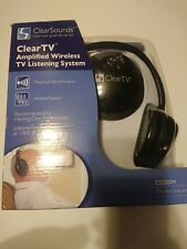 Clearsounds CS2001M Amplified Wireless Tv Listenin