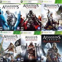 Assassin Creed Xbox 360/One Game Discs Only I II III IV Brotherhood Revelations