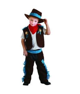 Costume Vestito Carnevale Sceriffo Cow Boy 3 - 4 anni - giocoscuolaregalo