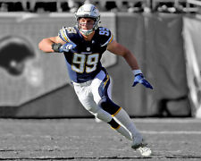 Los Angeles Chargers JOEY BOSA Glossy 8x10 Photo Spotlight Print Poster