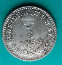 AUSTRIA 5 kreutzer 1859 V silver coin