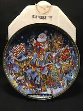 1994 A Pepsi-Cola Christmas, Bill Bell-Franklin Mint Collectible Plate w Box NMC
