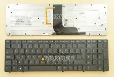 For HP EliteBook 8560w 8570w Keyboard Backlit Canadian French Clavier Pointer