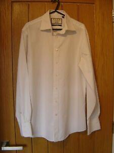 "Thomas Pink White 'The Bulldog' Slim Fit Shirt Collar 15"""