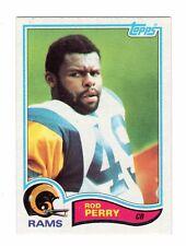 1982 Topps Football BLANK BACK ERROR CARD #382 ROD PERRY.  L.A. RAMS.