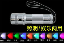 3W LED RGB 10 Colour Changing Torch Flashlight For outdoor Sport battery powered