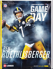 Pittsburgh Steelers New England Patriots Gameday Program Ben Roethlisberger