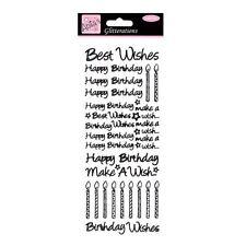 GLITTERATIONS - BIRTHDAY BEST WISHES - BLACK. ANT 8181011