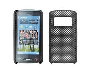 Contraportada Cuadrícula (Negro) ~ Nokia C6-01