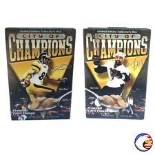 """""""City of Champions"""" HINES WARD & MAX TALBOT Double Cover PLB Sports Cereal Box"""
