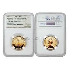 Bahamas 1967 Adoption of Constitution $20 Gold NGC PF69 ULTRA CAMEO