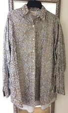 Vintage 1987 Limited Express Gold And Ivory Rayon Blouse 3/4 Sleeve Size 2 (16w