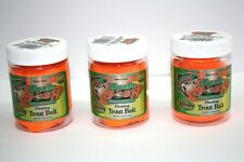 3 x Uncle Josh Trout Bait 68g Fluor Orange