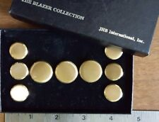 New Boxed 9 JHB International Brass Buttons The Blazer Collection