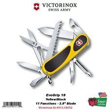 Victorinox Swiss Army EvoGrip 18 Multi-Tool, Yellow/Black, Box #2.4913.C8US2