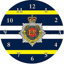 ROYAL ARMY SERVICE CORPS GLASS WALL CLOCK