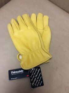 Deerskin Gloves Thinsulate Lined XL